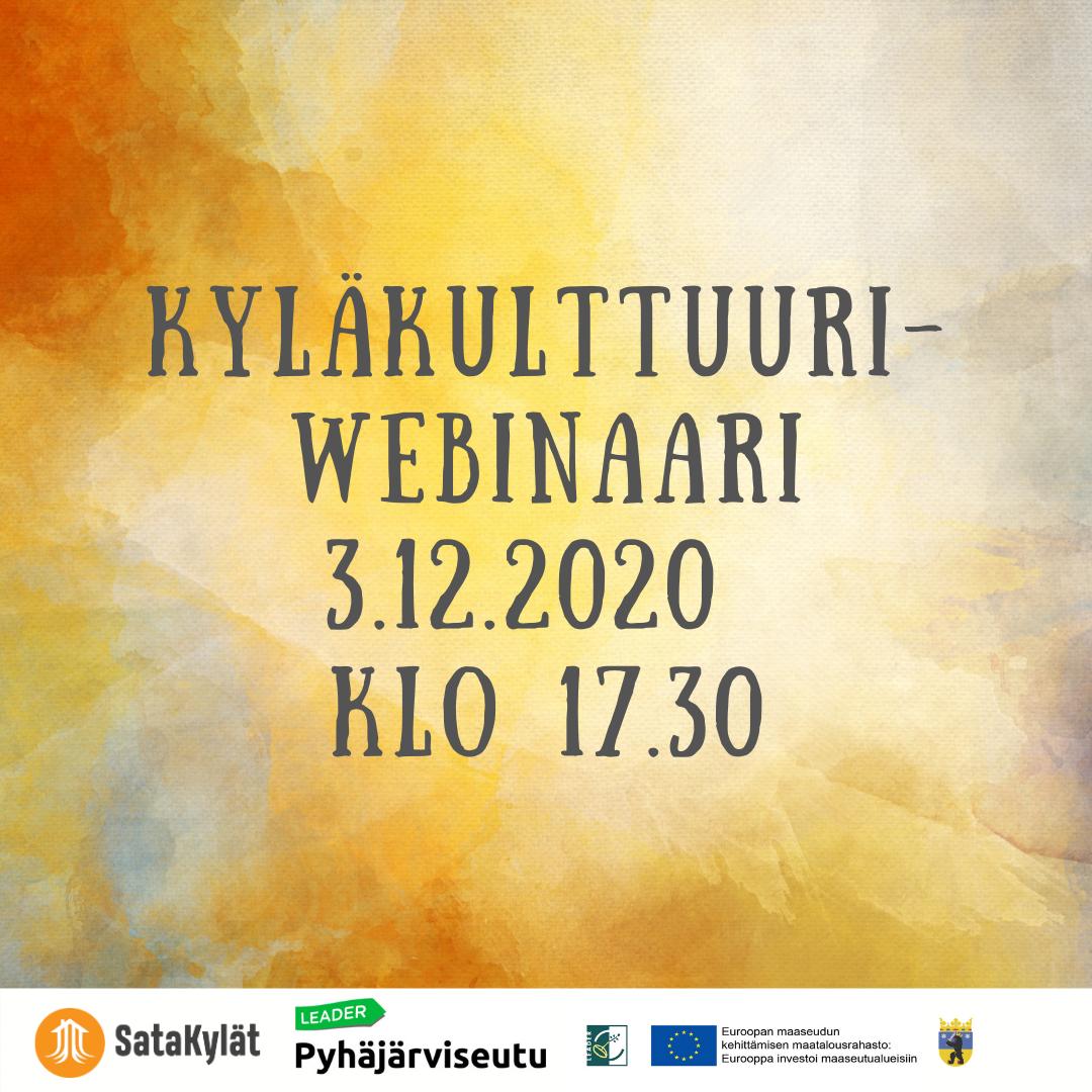 KyläKulttuuri-webinaari 3.12. ko 17.30