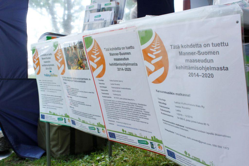 Tätä kohdetta on rahoitettu mannersuomen maaseudun kehittämisohjelmasta julisteita